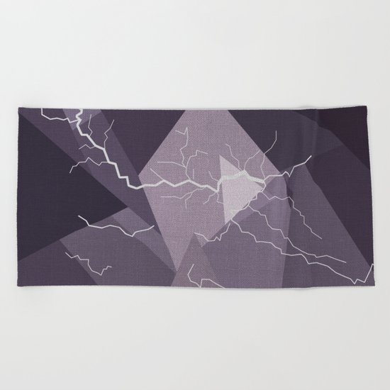 ABSTRACT STORM Beach Towel