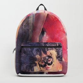 Painted Fan Dancer - Dressing Room Break Backpack