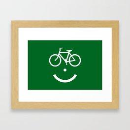 Bike Lane :) Framed Art Print
