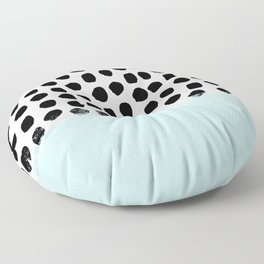 Lolita - Modern mint dots abstract painting minimal design trendy hipster decor dorm office retail  Floor Pillow