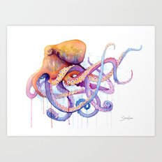 Octopus II Art Print