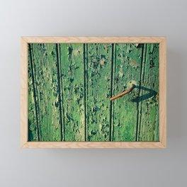 old farmdoor Framed Mini Art Print