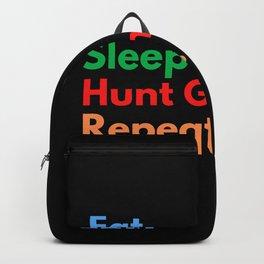 Eat. Sleep. Hunt Ghosts. Repeat. Backpack