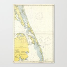 Vintage Map of The Outer Banks (1942) Canvas Print