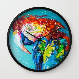 Macaw parrot Wall Clock