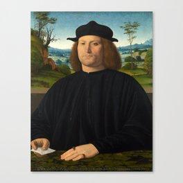 Portrait of Giovanni Cristoforo Longoni by Andrea Solario Canvas Print