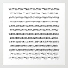 Bulli Love White Art Print