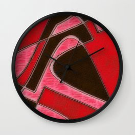 Red Denim Sampler Wall Clock