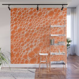 Champagne Bubbles Collection: #6 – Tangerine-Orange Wall Mural