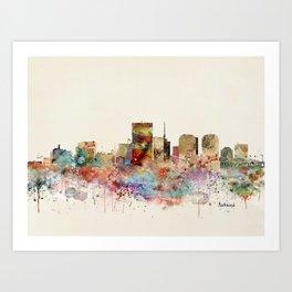 richmond virginia skyline Art Print