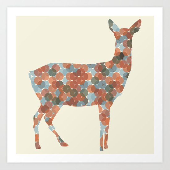 Autumn Doe Art Print