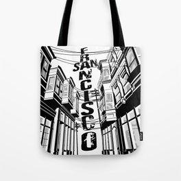 Cities in Black - San Francisco Tote Bag
