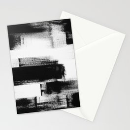 No. 85 Modern abstract black and white painting Stationery Cards