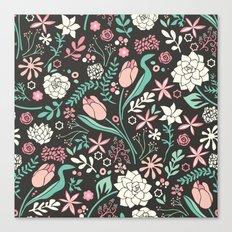 Tulip flowerbed Canvas Print
