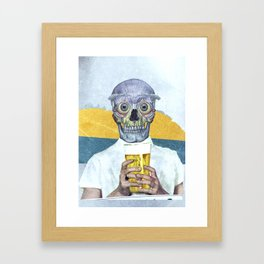 I want my beer Framed Art Print