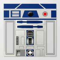 r2d2 Canvas Prints featuring R2D2 by Smart Friend