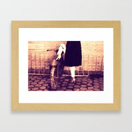 mink a moment Framed Art Print