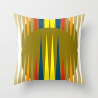 games Throw Pillows featuring Games by Heaven7