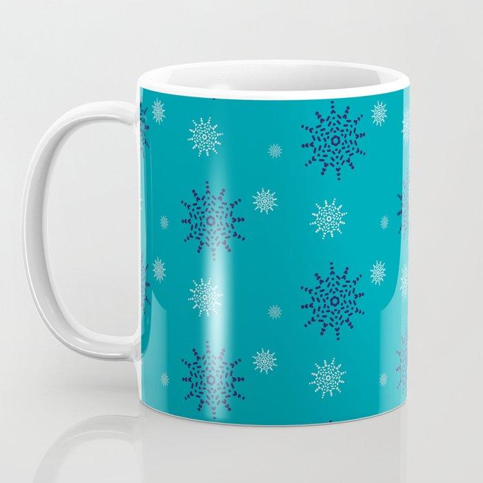 Blue and White Snowflakes Coffee Mug