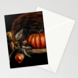 Pumpkin In A Basket Stationery Cards