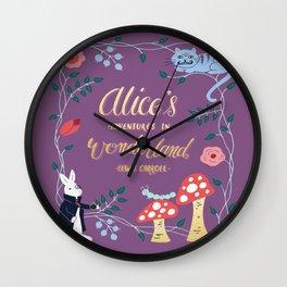 Alice's Adventures in Wonderland Wall Clock