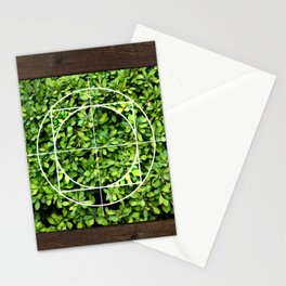 Bordered Leaves Stationery Cards