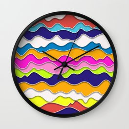 Pop Art Waves Wall Clock