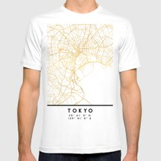 TOKYO JAPAN CITY STREET MAP ART MEDIUM Mens Fitted Tee White