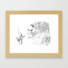 Witch Shop Framed Art Print