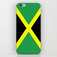jamaica iPhone & iPod Skins featuring Jamaica Flag by D.A.S.E. 3