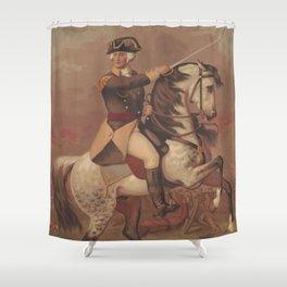 Vintage General Washington at Trenton Illustration (1875) Shower Curtain