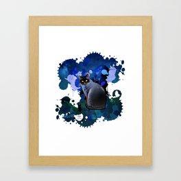 Color Blast Cat Framed Art Print