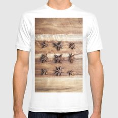 Stars and Stripes of Baking - Star Anise Mens Fitted Tee MEDIUM White