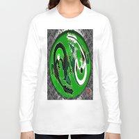 ying yang Long Sleeve T-shirts featuring ying yang by Nerd Artist DM