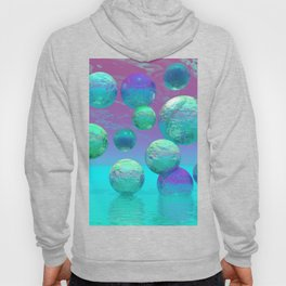 Ocean Dreams - Aqua and Indigo Ocean Universe Hoody