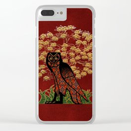 Owl Tapestry Clear iPhone Case