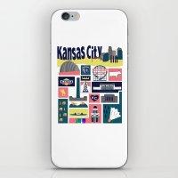 kansas iPhone & iPod Skins featuring Kansas City by cwassmer
