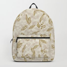 Abstract Gold Fall Foliage Symphony Backpack
