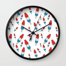 Bomb Pops Ice Cream Pattern Wall Clock