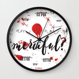 Quote from Illuminae by Jay Kristoff and Amie Kaufman Wall Clock
