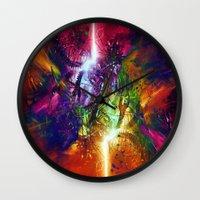 chaos Wall Clocks featuring Chaos by Robin Curtiss
