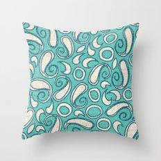 ziya mint blue Throw Pillow
