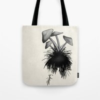 mushrooms Tote Bags featuring Mushrooms by Nicklas Gustafsson