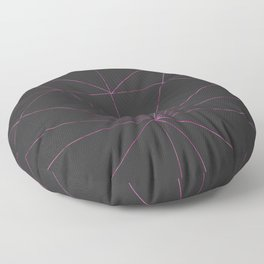 Abstract watercolor pink black geometric pattern Floor Pillow