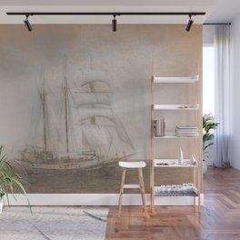 Atlantis Sailing Ship da Vinci Wall Mural