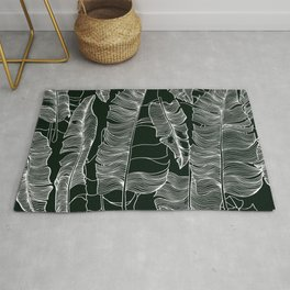 Stylized tropical pattern Rug