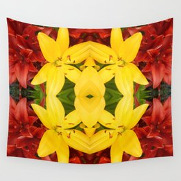 """""""A Gathering of Lilies"""" Remix - 3 (3-1) [D4468~49] Wall Tapestry"""