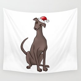 Christmas Greyhound Wall Tapestry