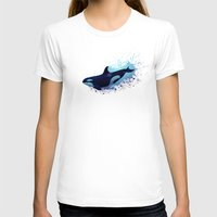 biology T-shirts featuring Lost in Fantasy ~ Orca ~ Killer Whale by Amber Marine