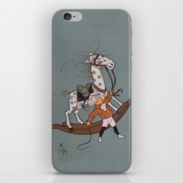 Whipping the Angry Toy Horse iPhone Skin